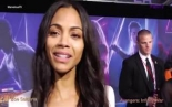 In SPANISH with Zoe Saldana at the Avengers  Infinity War Red Carpet...