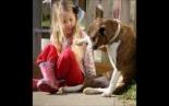 Leavitt Bulldog Rosie Rose and Friends - A little girl & her dog