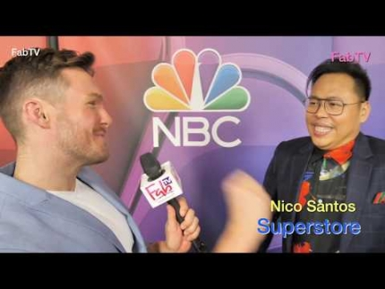 "Nico Santos loves ""Superstore"" at NBC press day 2019"