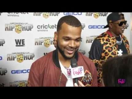 "Boogie Dash at the ""Growing Up Hip Hop"" red carpet"