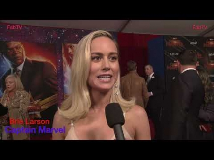 "Jets flyover the red carpet & words with 'Brie Larson' at the ""Captain Marvel""  premiere on FabTV"