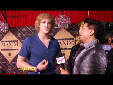 Logan Paul at 'Maxim Hot 100' Party! on FabTV