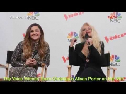 The Voice Winner: Team Christina\'s Alisan Porter on Her Win Fabulous TV