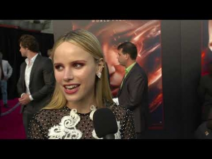 "Halston Sage talks about ""DARK PHOENIX"" at the WORLD..."