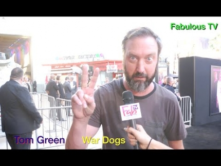 Comedian Tom Green at the 'WAR DOGS' premiere on Fabulous TV