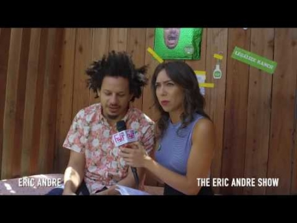 BTS interview with Eric Andre star of his own show 'THE ERIC ANDRE SHOW' on Fabulous TV