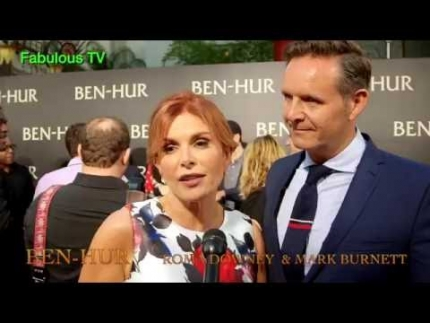 BEN-HUR premiere Executive Prodcuers's Roma Downey & Mark Burnett on FabulousTV
