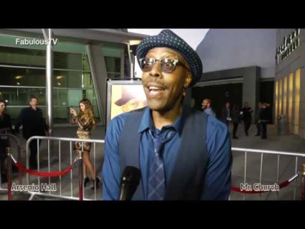 Arsenio Hall talks about 'Coming to America 2' at MR. CHURCH premiere on FabulousTV  FabTV com