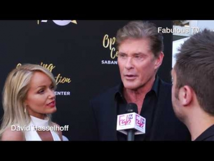 David Hasselhoff  at the 70th Anniversary at TV Academy red carpet on Fabulous TV