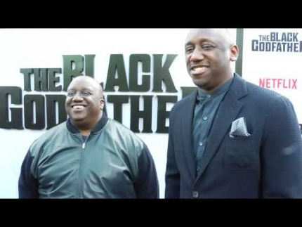"Jeff Dixon &  Shaka Zulu at ""The BLACK GODFATHER"""