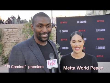 "Ron Artest 'Metta World Peace' at the ""EL CAMINO"" red carpet"