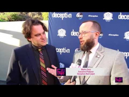 'Deception' red carpet with Chris Fedak & Martin