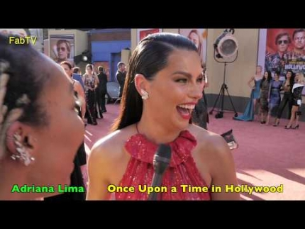 "The amazing model Adriana Lima @ ""Once Upon a Time in Hollywood"" premiere"