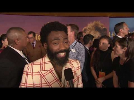 "LION KING with DONALD GLOVER who plays  ""Simba"""