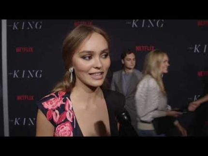 "Lily Rose Depp plays  ""Catherine"" on  ""THE KING"" on Netflix"