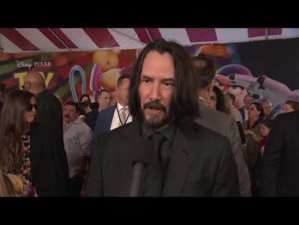 "KEANU REEVES arrives at the ""TOY STORY 4""  PREMIERE"