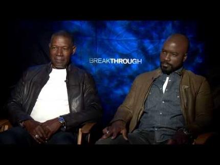 """""""Breakthough"""" actors  Mike Colter & Dennis Haysbert"""
