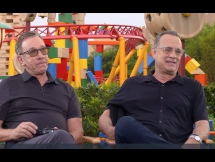 Tom Hanks & Tim Allen talk about their voices on Toy Story 4