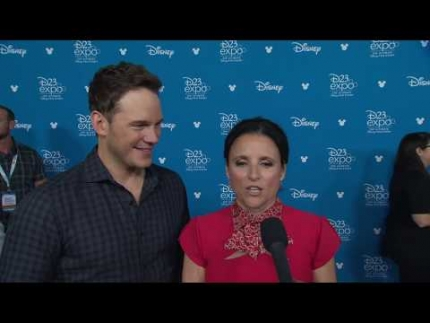 """Onward""   Chris Pratt & Julia Louis Dreyfus at ""D23"" 2019"