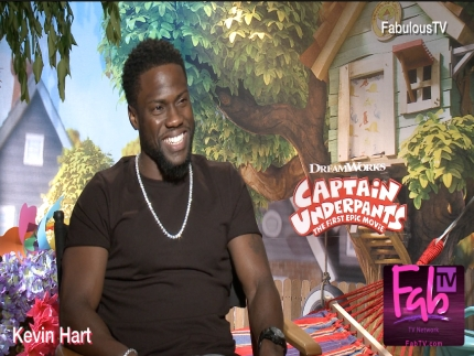 Kevin Hart talks about 'Captain Underpants' on FabulousTV