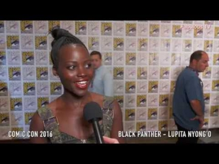 Lupita Nyong'O at Comic Con 2016 press line talks about Black Panther  #comiccon2016 #BlackPanther