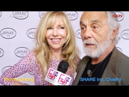 Tommy Chong & Shelby Chong at the SHARE Inc. charity event on Fabulous TV