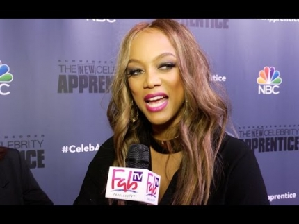Tyra Banks at the 'Celebrity Apprentice' 2017 on Fabulous TV
