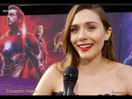 'Elizabeth Olsen' at the Avengers:Infinity War WORLD PREMIERE
