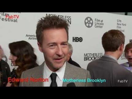 "Edward Norton arrives at the ""Motherless Brooklyn"" premiere..."