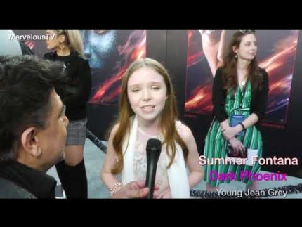"Summer Fontana 'Young Jean Grey' at the ""Dark Phoenix""..."