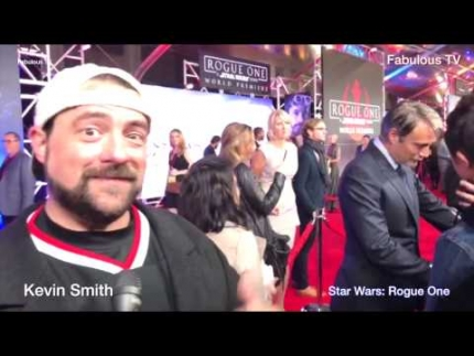Kevin Smith at Star Wars:  'Rogue One' premiere on Fabulous TV