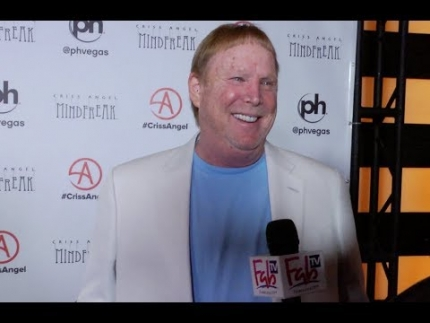 "Raiders owner 'Mark Davis' at the ""MINDFREAK""  Grand Opening at Planet Hollywood!"