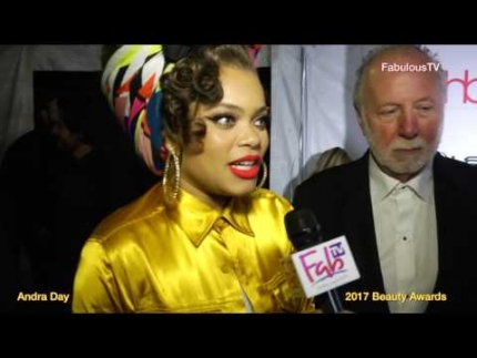 Andra Day tonight at 2017 Beauty Awards
