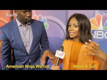 "Akbar Gbajabiamila & Zuri Hall hosts of ""American Ninja..."