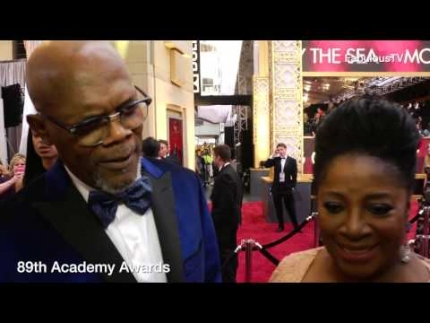 Samuel L. Jackson & LaTanya Richardson at '89th Academy Awards' red carpet on FabulousTV