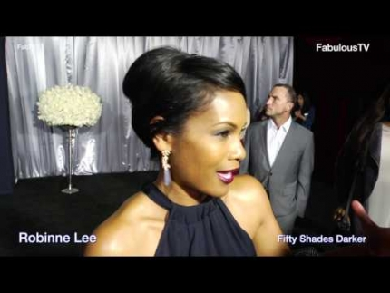 Robinne Lee at the 'Fifty Shades Darker' premiere talks about ...
