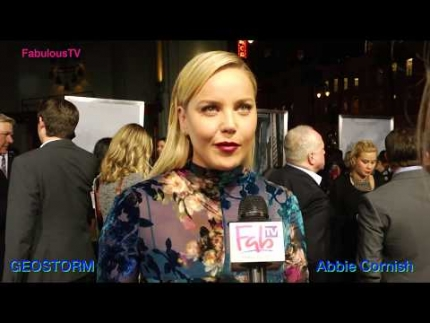Abbie Cornish stars in 'GEOSTORM' premiere on FabulousTV