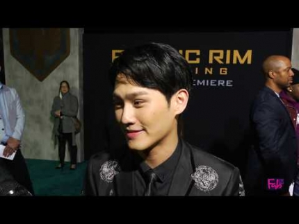 Global Premiere of Pacific Rim 'Uprising' with  Wesley Wong