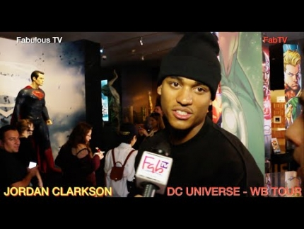 LA Laker JORDAN CLARKSON at DC UNIVERSE  WB TOUR Fabulous TV