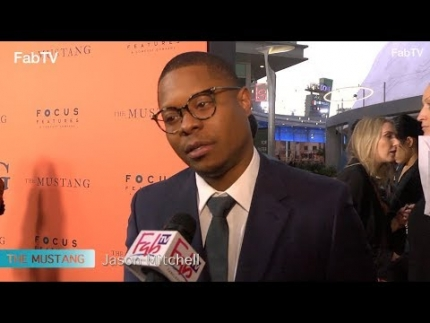 "Jason Mitchell at ""THE MUSTANG"" premiere"