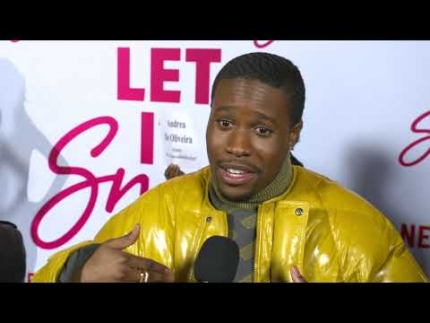 """LET IT SNOW"" premiere with Shameik Moore"