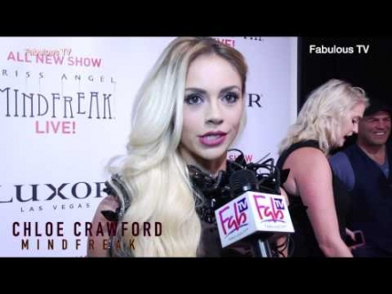 Chloe Crawford at Criss Angel\'s premiere of Mindfreak Live!  at the Luxor Hotel with Fabulous TV