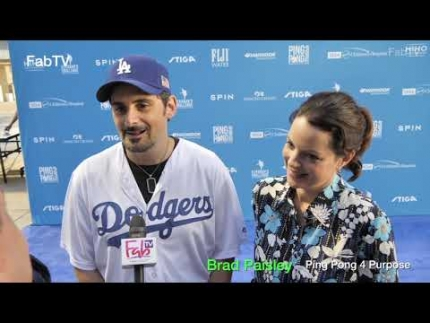 "Brad Paisley at  Kershaw's ""Ping Pong 4Purpose 2019"""