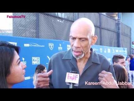 Kareem Abdul-Jabbar at Kershaw's 'Ping Pong Challenge 4 Purpose' on FabulousTV