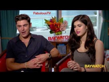 Zac Efron & Alexandra Daddario talk 'Baywatch' FabulousTV