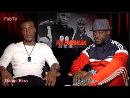 "Daniel Ezra & Taye Diggs are ""All American"" on FabTV"