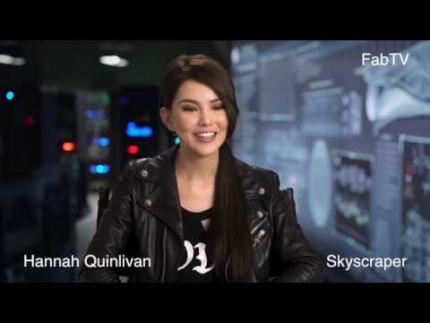 "Super cute Hannah Quinlivan details ""Skyscraper""  on FabTV"