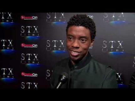 "Chadwick Boseman ""Black Panther"" star at CinemaCon 2019"