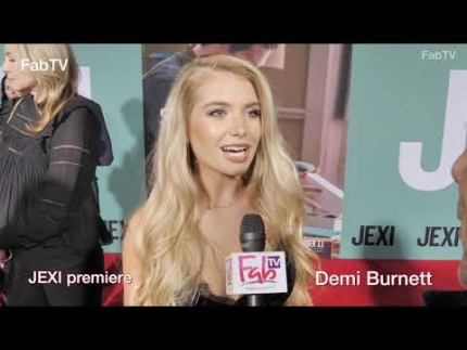 "Demi Burnett at the ""JEXI"" premiere & red carpet"