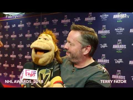 Terry Fator at the 2018 NHL Awards